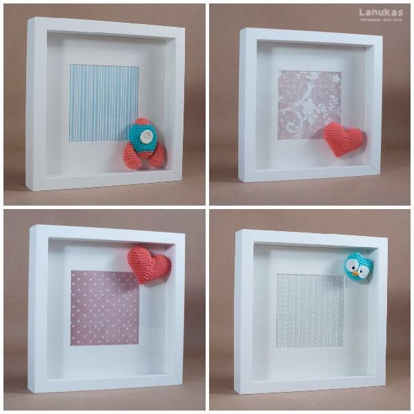 i d e a cuadros personalizados de amigurumi On marcos profundos para cuadros