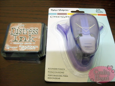 Tim Holtz Distress Ink Pads and EK Success Corner Rounder