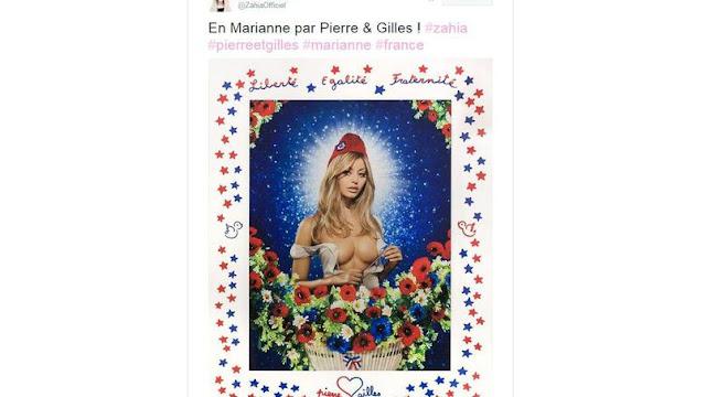 La photo de Zahia en Marianne enflamme la Toile