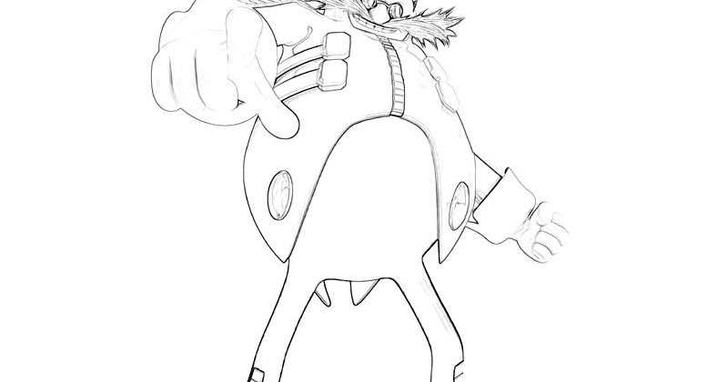 Dr eggman coloring pages for Dr eggman coloring pages