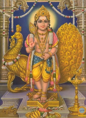Picture of Lord Muruga or murugan, the Son of Shiva and Shakti