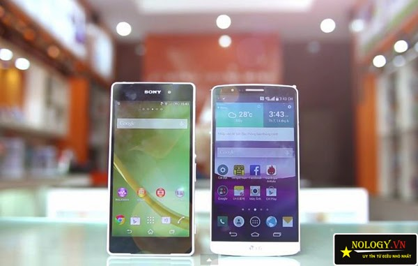 So sánh Sony Xperia Z2 Nhật Bản và LG G3.