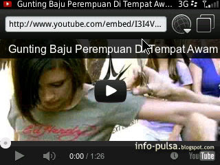 Nonon YouTube dari ponsel BlackBerry