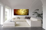 "Abstract Painting ""Pure Gold"" by Dora Woodrum"