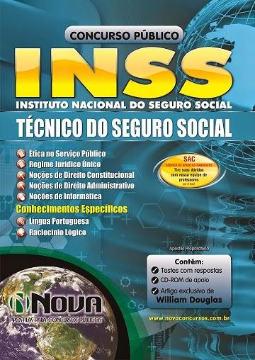 Apostila Preparatória para o Concurso INSS ATUALIZADA - Instituto Nacional do Seguro Social 2014 - Técnico do Seguro Social