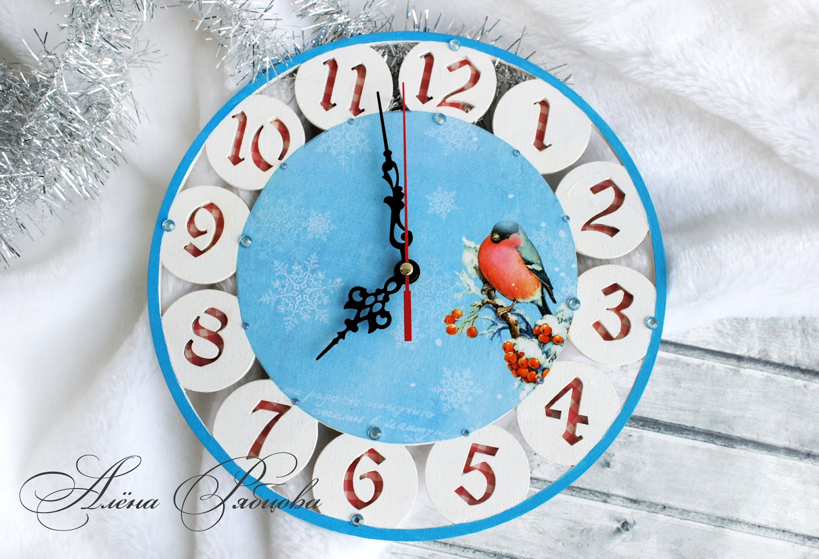 Картинки новогодних часов своими руками