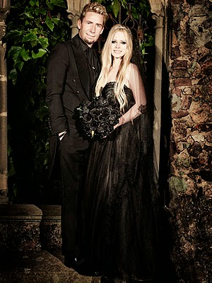 Avril Lavigne's Black Wedding Dress: Affordable Wedding Dresses - Paint it Black