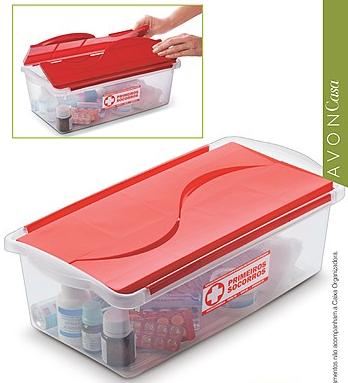 Caixa de remédios transparente