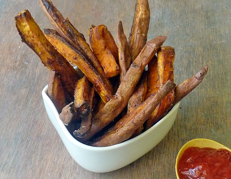 Healthy Baked Sweet Potato Fries | by Life Tastes Good are good for you! YES! You can eat french fries! And they taste so good, they'll likely become your go-to french fry. They certainly have in our house! #Side #SuperFood
