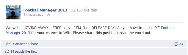 FM 2013 giveaway by FM Scout