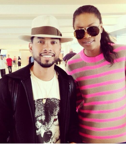 Yvonne Nelson spotted with RnB star Miguel