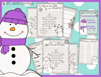 http://www.teacherspayteachers.com/Product/Snowman-Writing-Activites-1037557