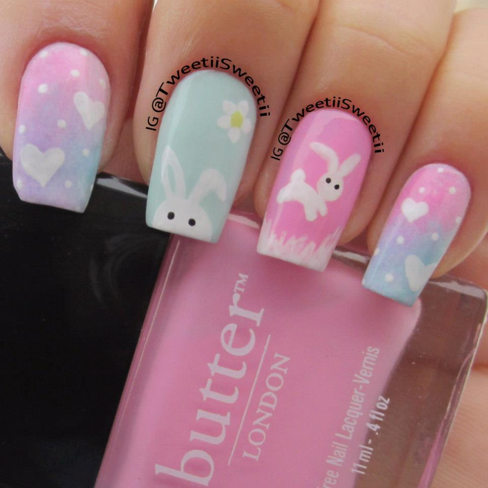 Easter Bunny Nail Art: Malaysian Beauty & Lifestyle Blogger: Easter