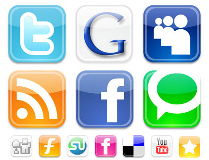 graphic of social media logos
