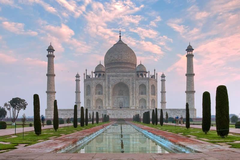 The Taj Mahal in Agra ( India )