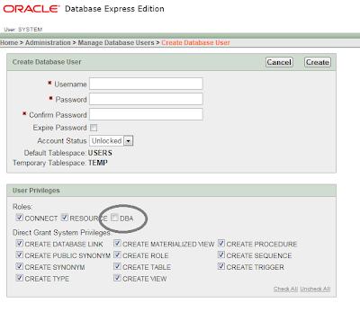Belajar Oracle - membuat tabel