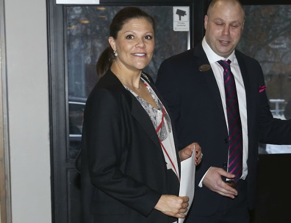 Crown Princess Victoria Attended A Conference With Author Emerich Roth