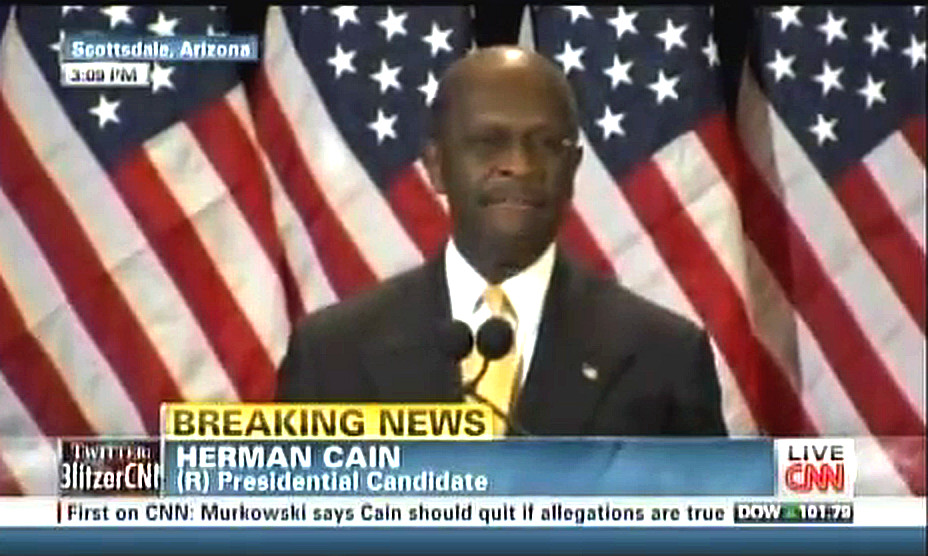 Herman Cain Press Conference 11/08/11