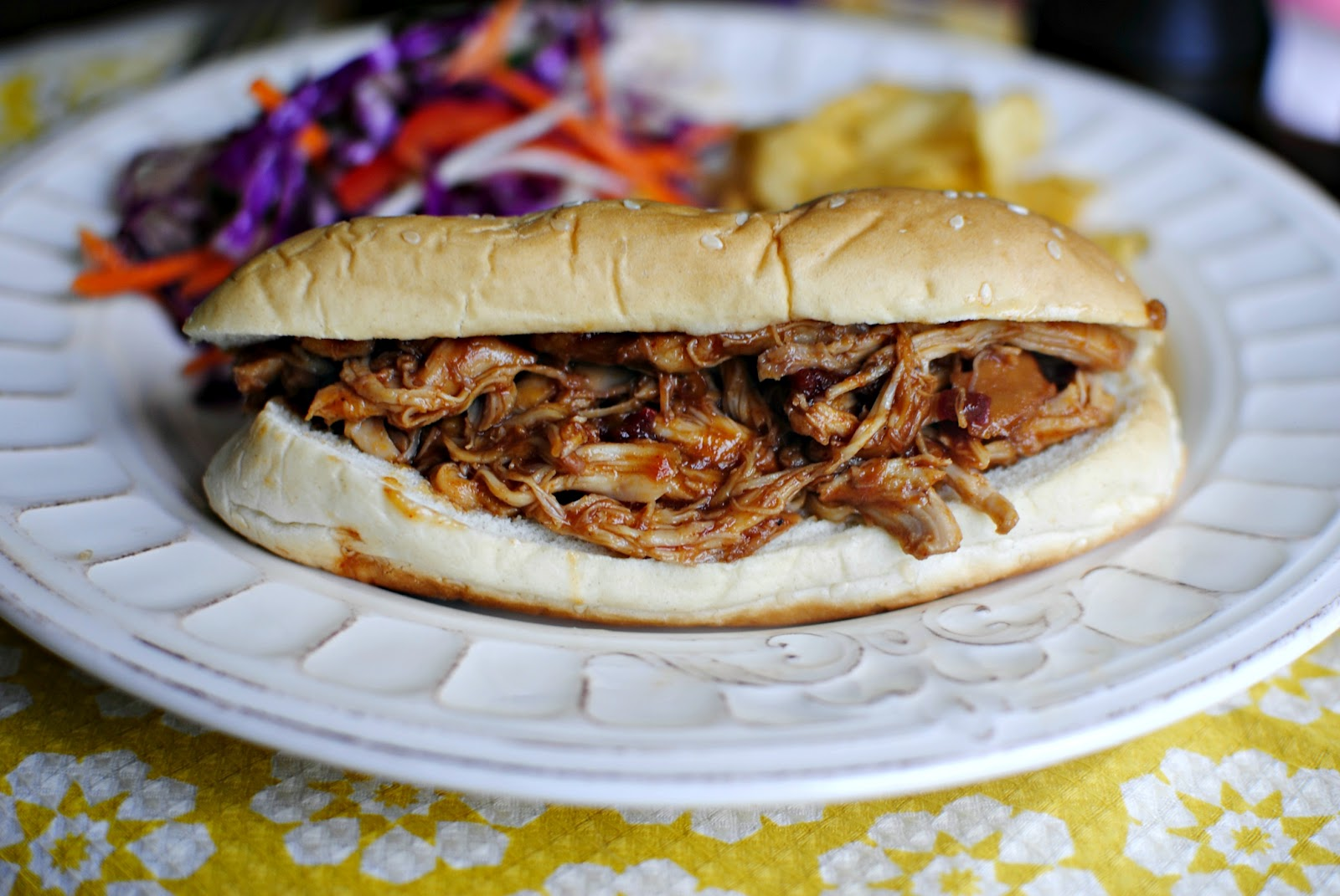 ... Slow Cooker Barbecue Pulled Chicken Sandwiches - Simply Scratch