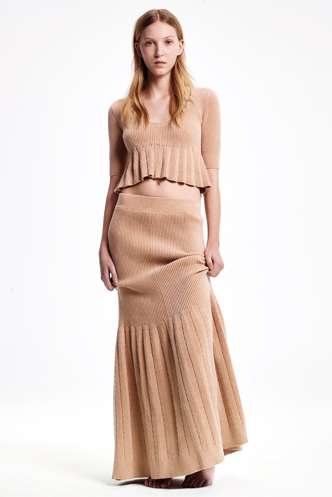 via fashioned by love | Calvin Klein Pre-Fall 2015 | camel trends | 2015