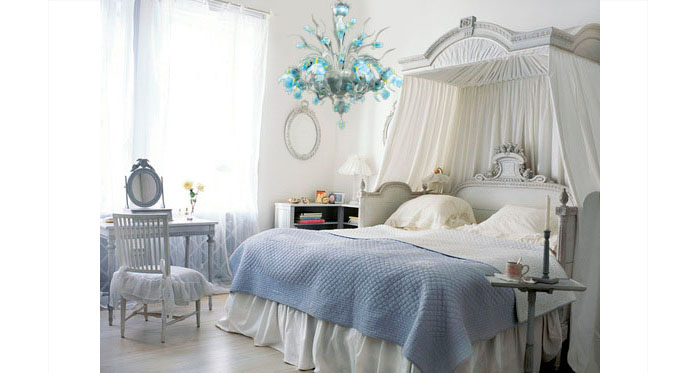 Mobili shabby chic atelier myartistic lampadario vetro murano shabby chic chandelier myl07 - Lampadario camera letto ...