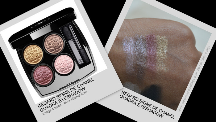 Eclats du Soire de Chanel Holiday 2012 Makeup Collection Regard Signe Quadra Eyeshadow Indian Beauty Blog Darker Skin Swatch