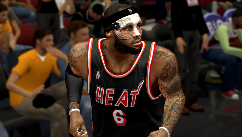 NBA 2K14 LeBron James Clear Protective Mask Mod