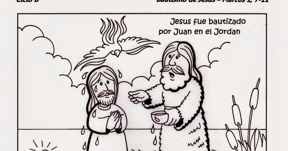 Educar con Jesús: El Bautismo de Jesús Mc1,7-11