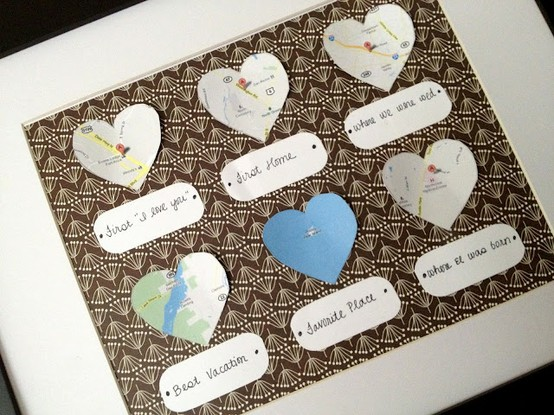 Picture display rack diy anniversary gift for Cute homemade anniversary gifts for him