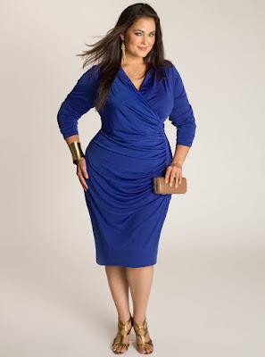 Contoh Dress Wanita Gemuk Warna Biru Grosir
