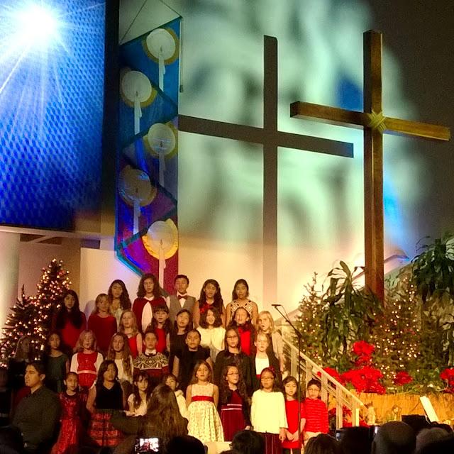 christmas choir at bel air presbyterian church
