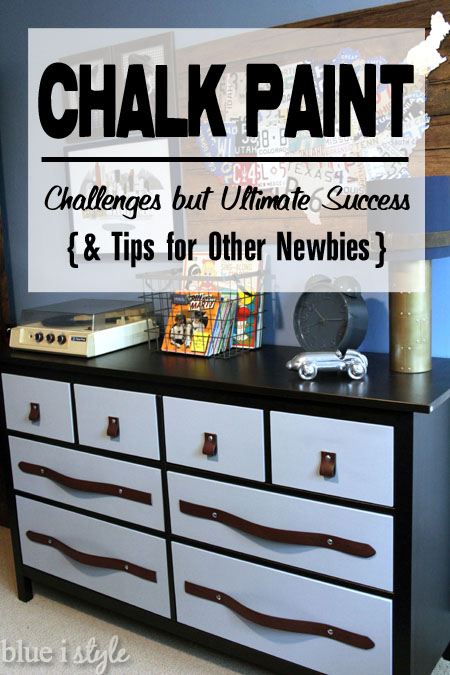 diy with style My First Time Using Chalk Paint - Challenges but
