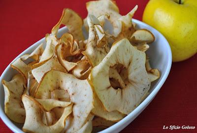 chips di mela - fettine di mela croccanti
