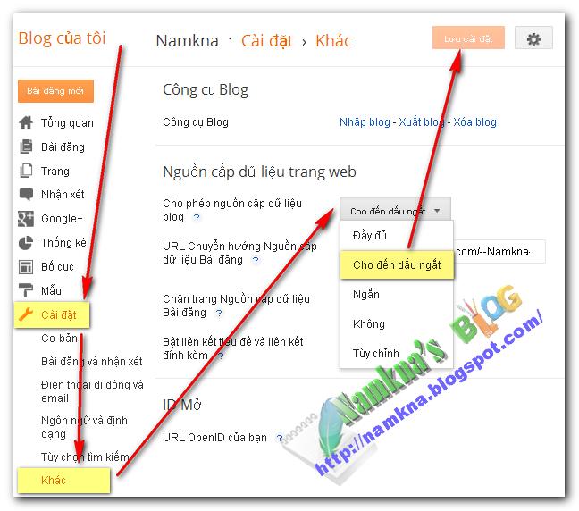 Lấy dữ liệu Blogspot khác và Bảo vệ dữ liệu blogspot bản thân.