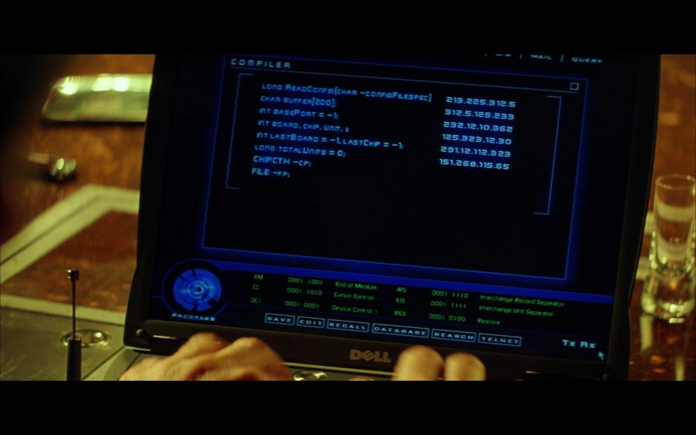 """В культовом хакерском фильме «Пароль """"Рыба-меч""""» используется реальный код для взлома симметричного алгоритма шифрования DES, разработанного IBM в семидесятые."""