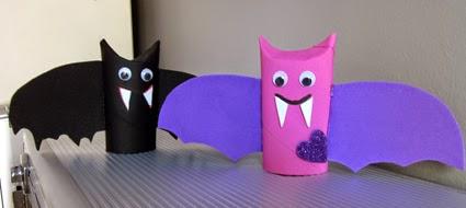 Murciélagos  Reciclaje para Halloween.