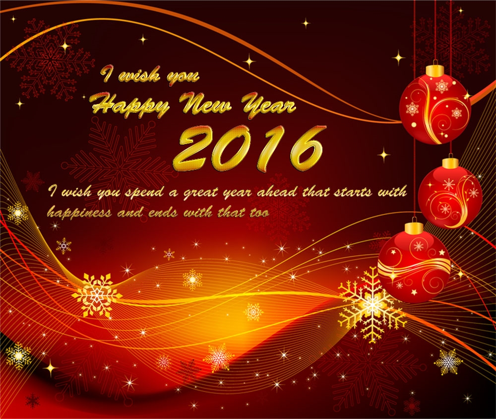 Happy New Year 2016 Best Wishes