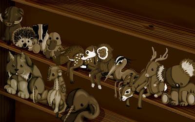 Wallpaper com todos os mascotes do Ubuntu