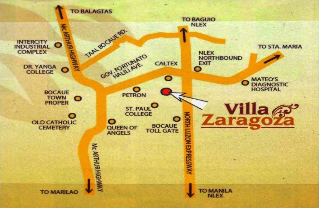 Villa Zaragoza Bocaue Bulacan Homepinoy - Bocaue map