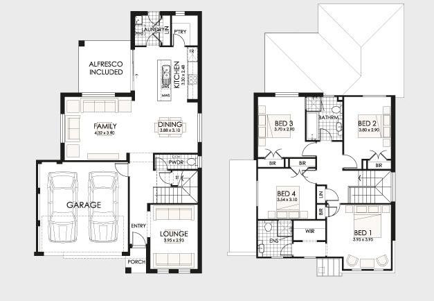 diseo y planos de casas de dos pisos con ideas para construccin