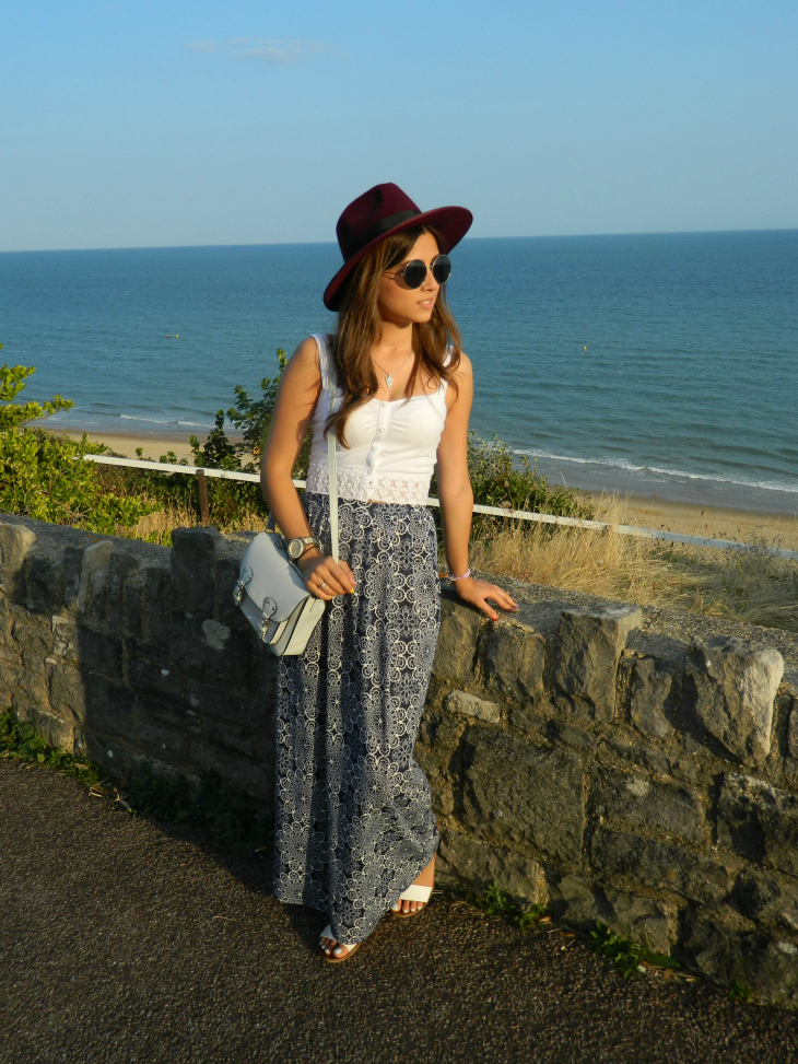 Love From Lisa Seaside Fashion - New Look Bralet, Primark Skirt, New Look Fedora Hat