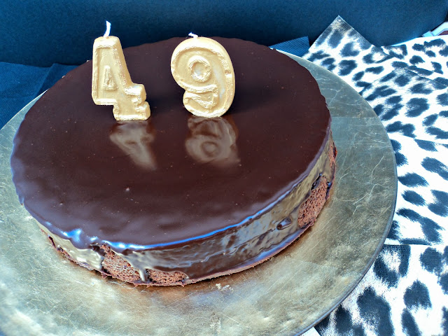 tarta, chocolate, licor, cumpleaños, receta