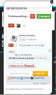 Cara Memasang Widget Melayang / Like Facebook Melayang