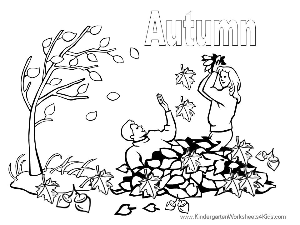 Autumn Coloring Pictures Crafts Picture