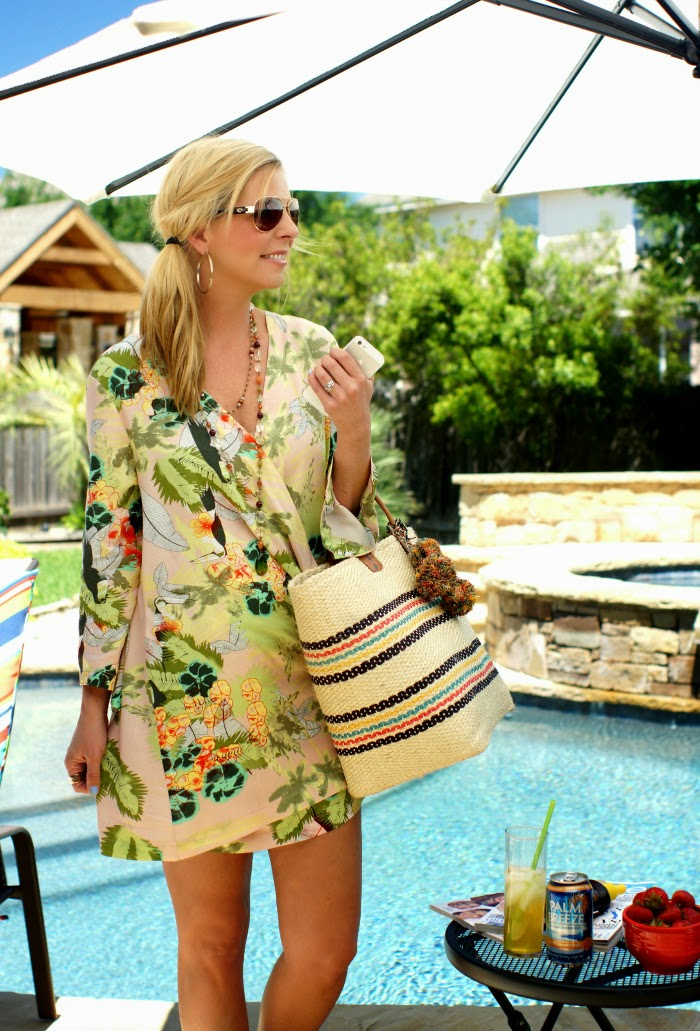floral kimono dress cover up