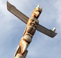 Totem Pole by Richard Becker