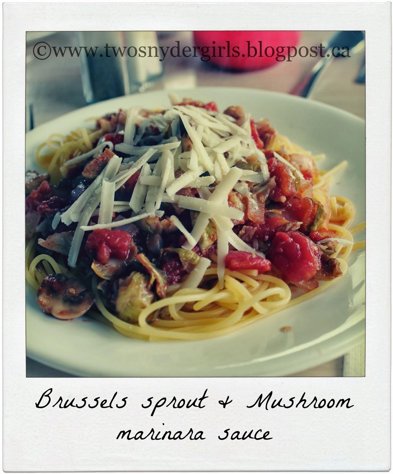 Brussels sprout & mushroom marinara