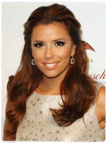 medium skin - Eva Longoria: Copper highlights