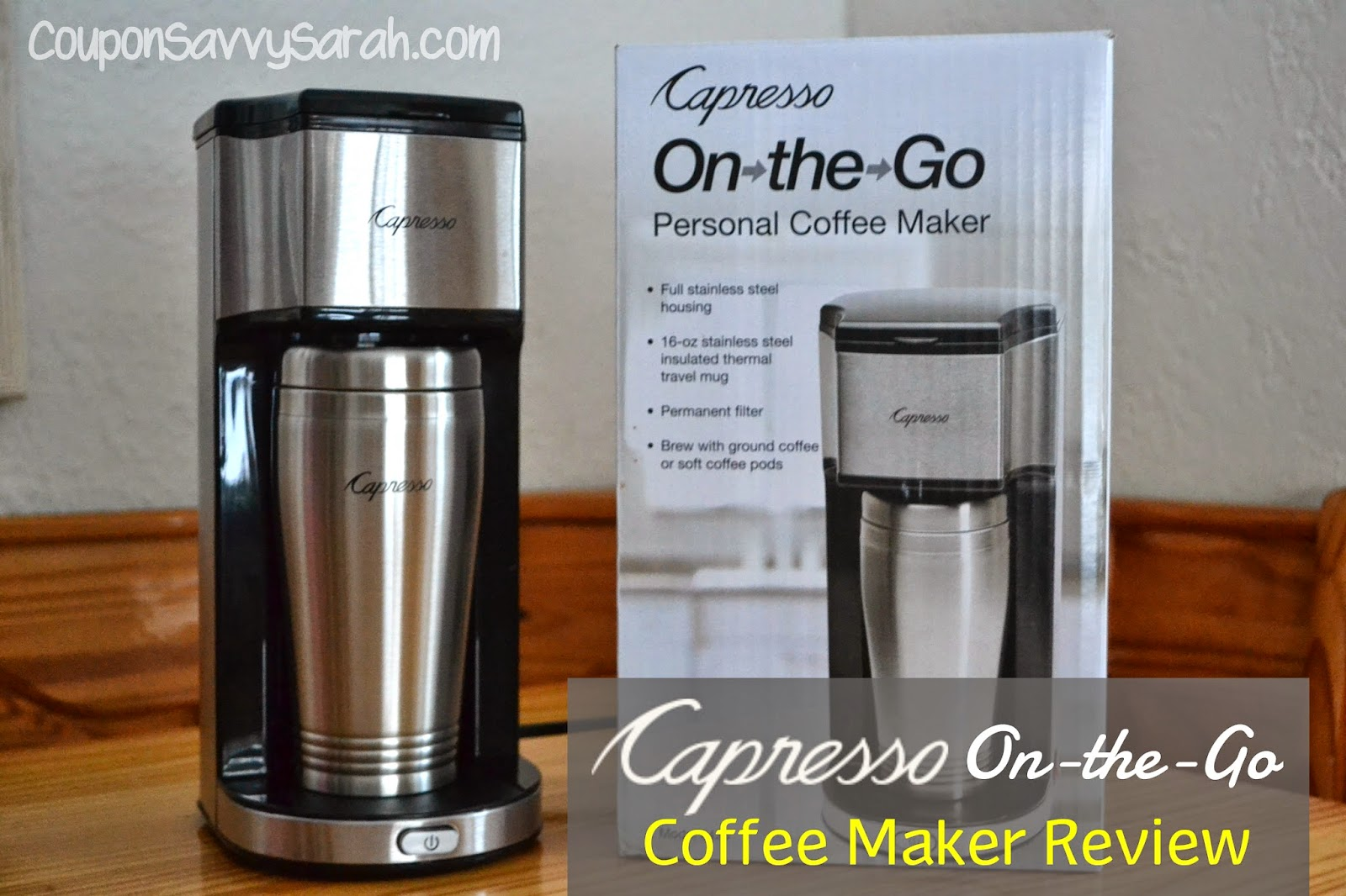 Coffee Maker On The Go : Coupon Savvy Sarah: CAPRESSO On-the-Go Personal Coffee Maker Review #HGG14