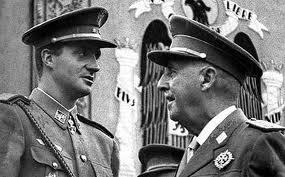 El dictador Franco con el rey Juan Carlos